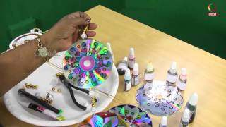 CARFT PAINT | HOW TO DRAW MANDALA |  MANDALA WITH CDs