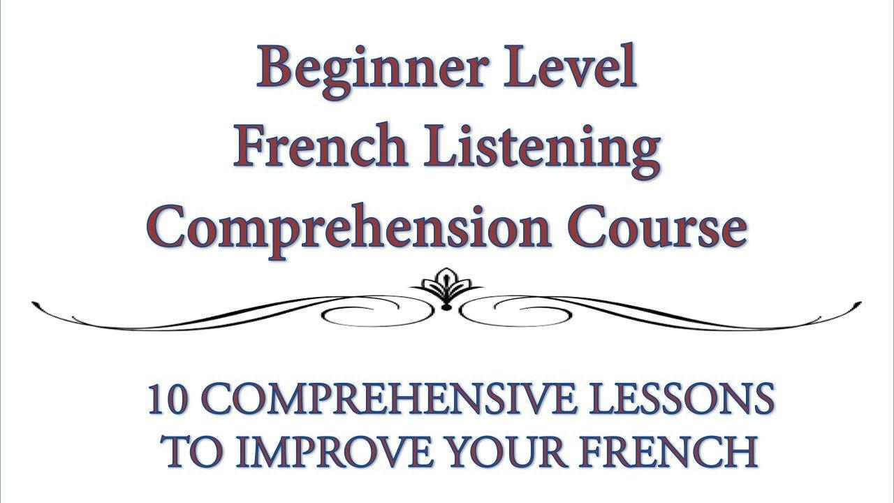 beginner french listening comprehension exercise youtube. Black Bedroom Furniture Sets. Home Design Ideas