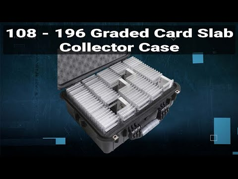 108-196 Graded Card Slab Collector Case - Video