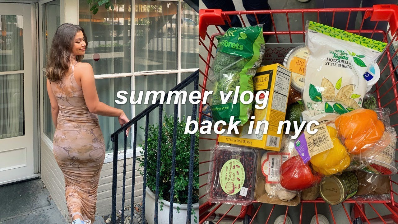 VLOG: back in NYC, shopping in SoHo, + organizing my apartment!