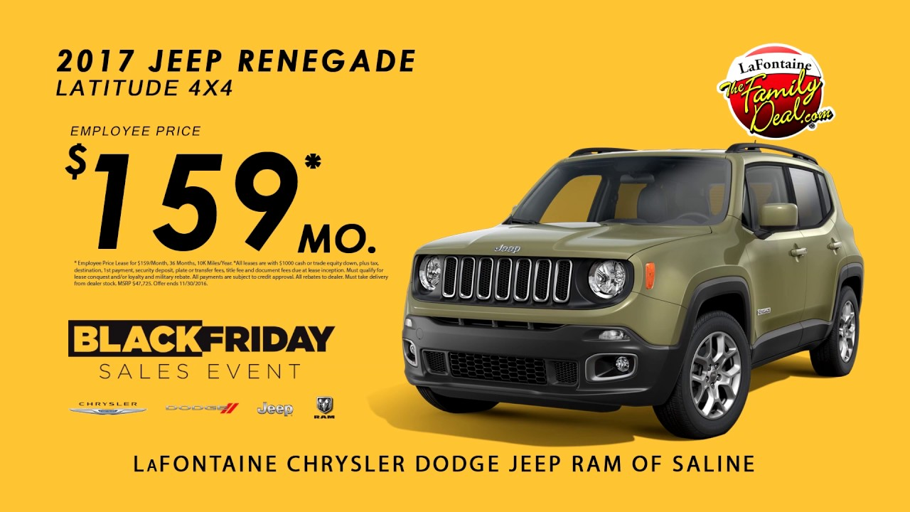 LaFontaine Jeep of Saline | FalaLaFontaine 2017 Jeep Renegade $159