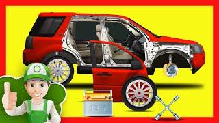 Мультики про машинки.  Винтик чинит Land Rover  - Хочу Знать Все