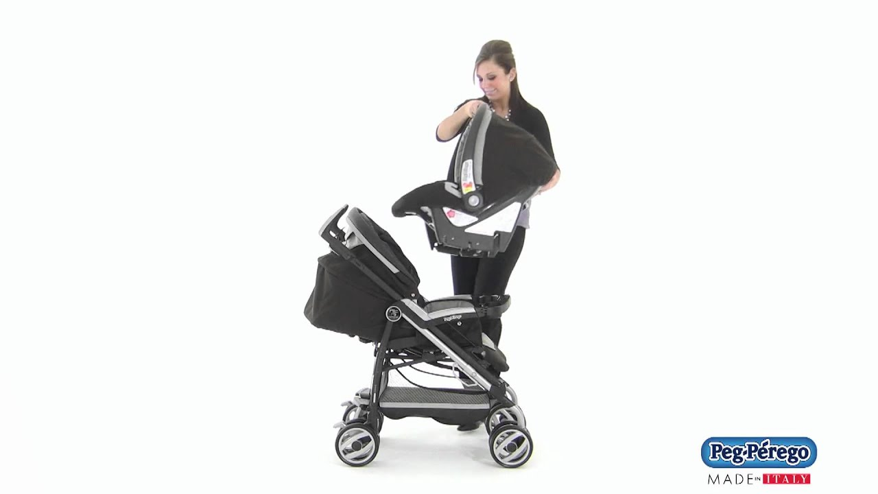 how to take the tray of peg perego
