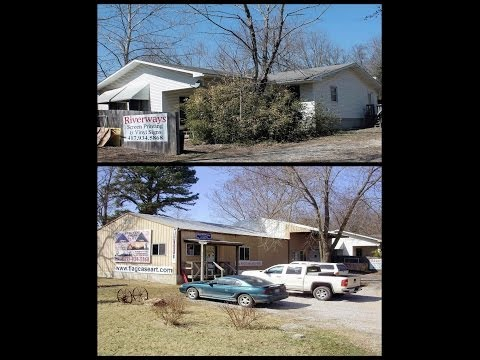 House Home Business For Sale 3 Bedroom 2 Bath Screen Print Business Mountain View, Missouri