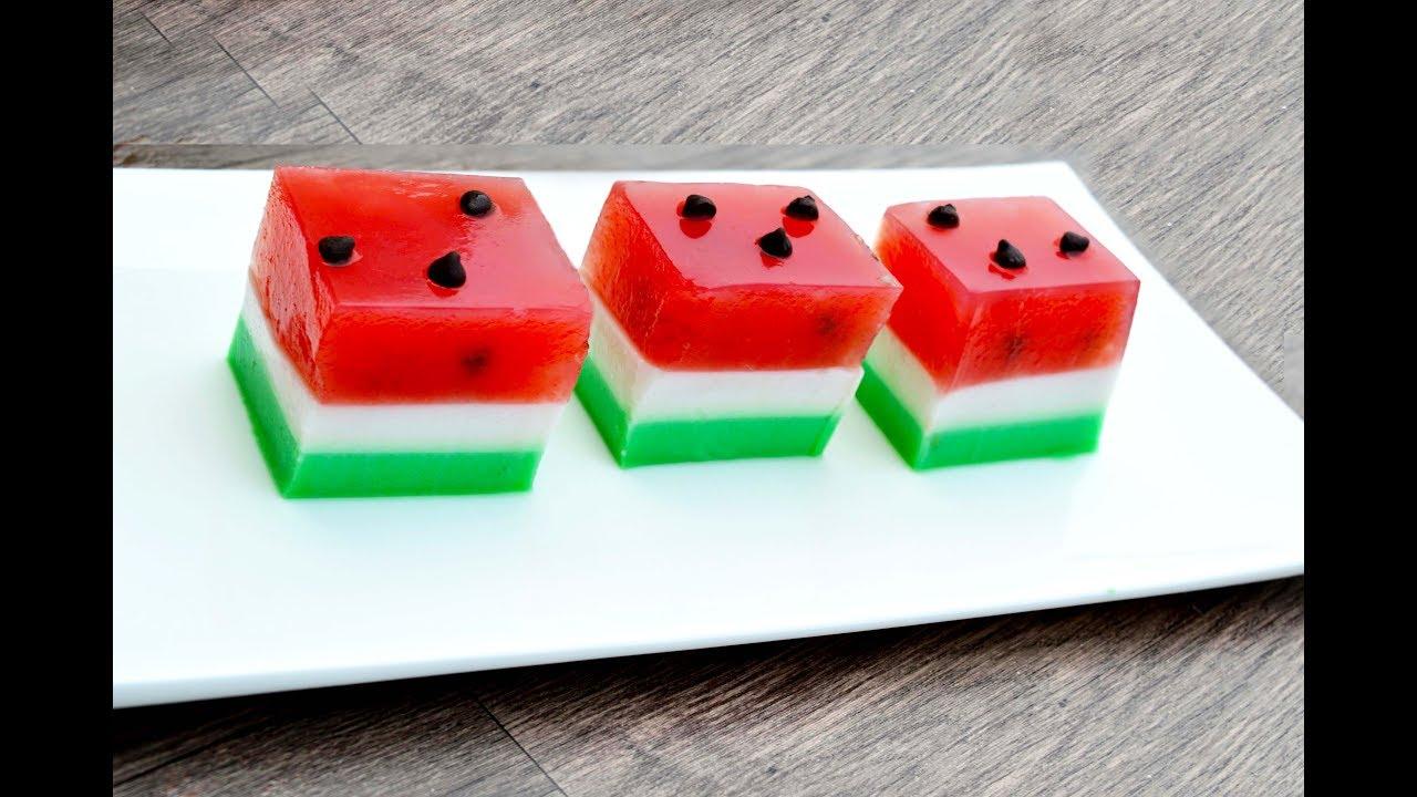 Watermelon Jelly Cake (Agar Agar)