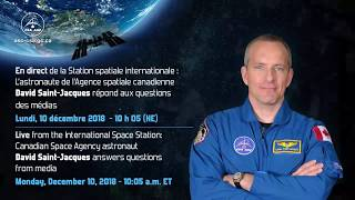 LIVE – CSA astronaut David Saint-Jacques answers questions from media