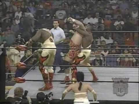(3.17.1997) Road to Spring Stampede 1997 Part 10 - Harlem Heat vs. Steiner Bros.