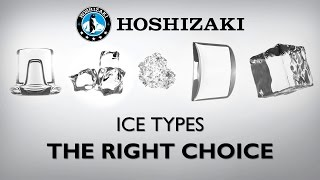 Hoshizaki Ice Types