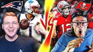 Cam Newton's New England Patriots vs. Tom Brady's Tampa Bay Buccaneers