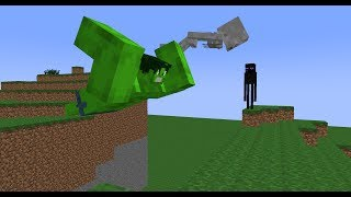Monster School: Jumping (Minecraft Animation)