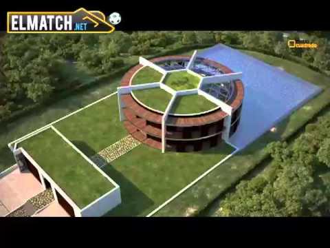 بالفيديو منزل ميسي الجديد في برشلونة على شكل كرة قدم Youtube