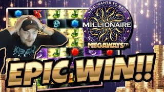 MASSIVE WIN!! who want to be a Millionaire BIG WIN - Epic WIn on Casino games from Casinodady