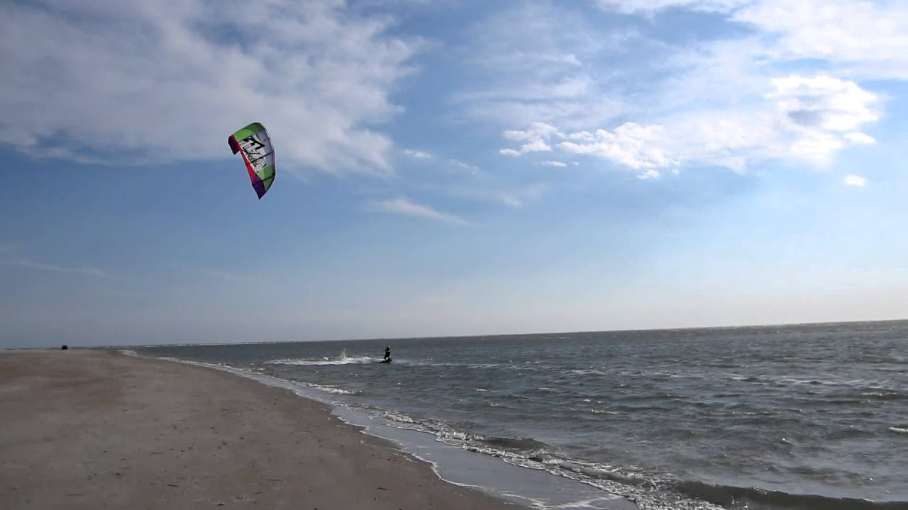 kitesurfing kiteboarding emerald isle beach nc nov 4 2012