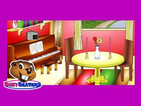 """""""In the Dining Room"""" (Level 1 English Lesson 25) CLIP - Learn English, Easy Education for Kids"""