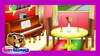 """In the Dining Room"" (Level 1 English Lesson 25) CLIP - Learn English, Easy Education for Kids"