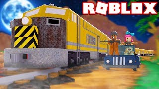 ROBBING THE TRAIN IN ROBLOX JAILBREAK! (Winter Update)