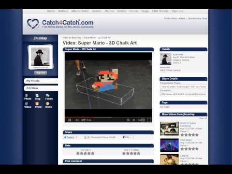 Catch4Catch.com Free Jewish dating - Super Mario 3D Chalk Art EPIC ART!!!