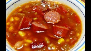 My Recipe for 15 Bean Soup Using Smoked Sausage and Frozen Corn