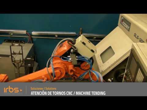 IRBS - Celda Robotizada atención de tornos CNC