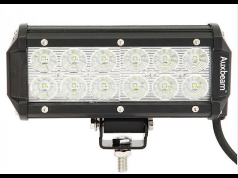 Auxbeam 7 inch 36w cree led light bar review youtube mozeypictures Images