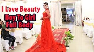 [ LiveStream ] Makeup transformation boy to girl full body