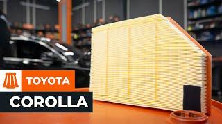 Kuinka vaihtaa ilmansuodatin TOYOTA COROLLA VERSO 2 -merkkiseen autoon OHJEVIDEO | AUTODOC