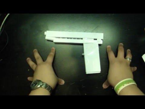 Basic Paper Pistol Open Ejection Port | Homemade Paper Tutorials