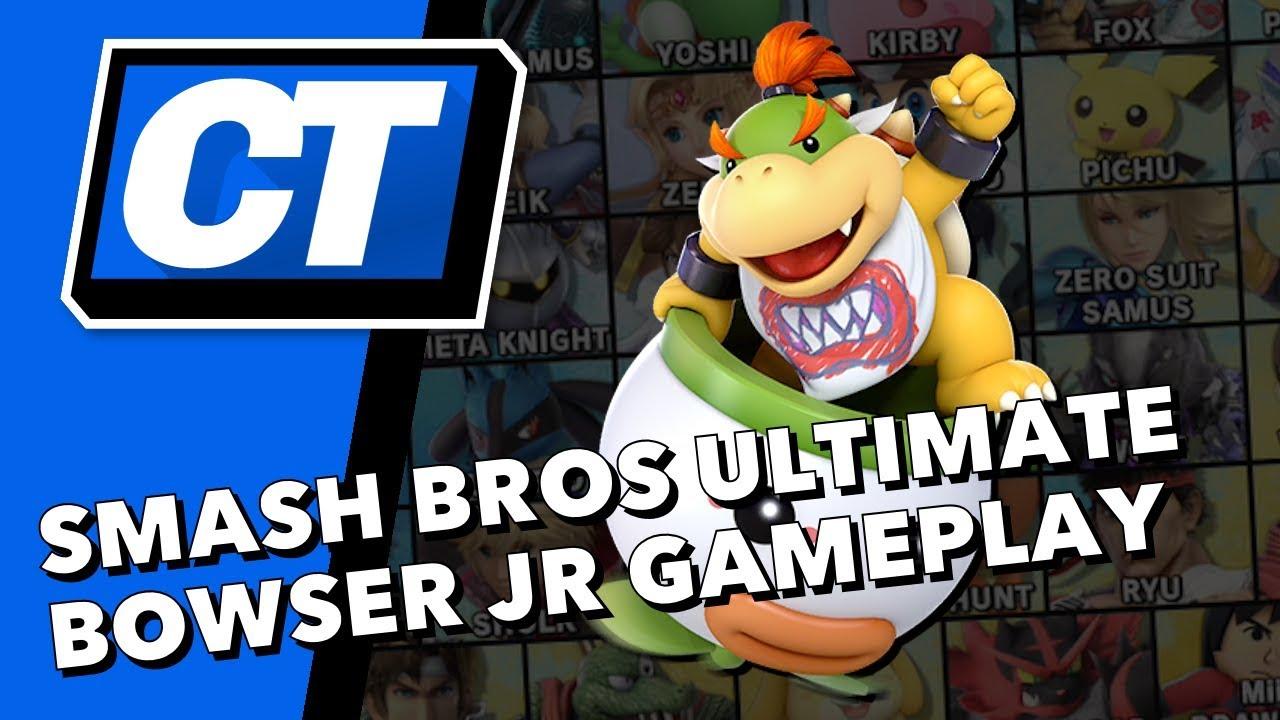 Bowser Jr Gameplay In Super Smash Bros Ultimate