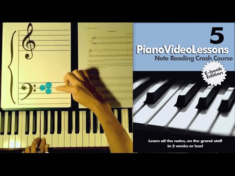 Learn to Play Piano:Lesson 5:(Bass G,E) Sheet Music Note Reading Crash Course