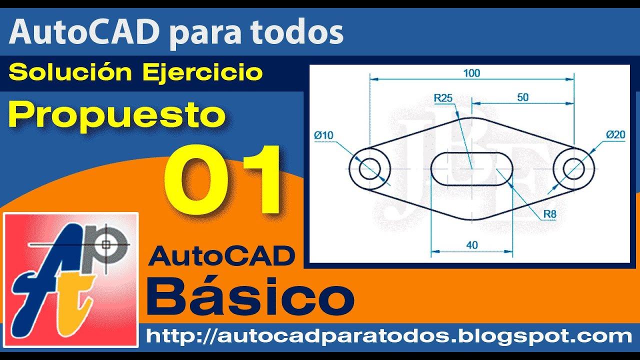 Solución Ejercicio Propuesto 01 - AutoCAD Básico