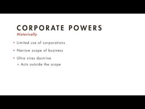 Business Associations tutorial: Corporate Powers and Liabilities | quimbee.com