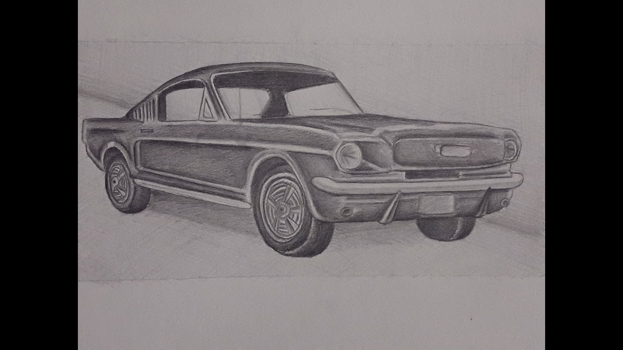 1970 ford mustang drawing american car youtube. Black Bedroom Furniture Sets. Home Design Ideas
