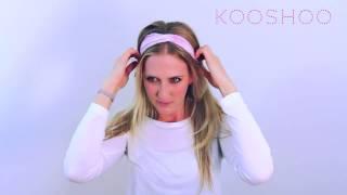 how to wear a wide headband   enso by kooshoo