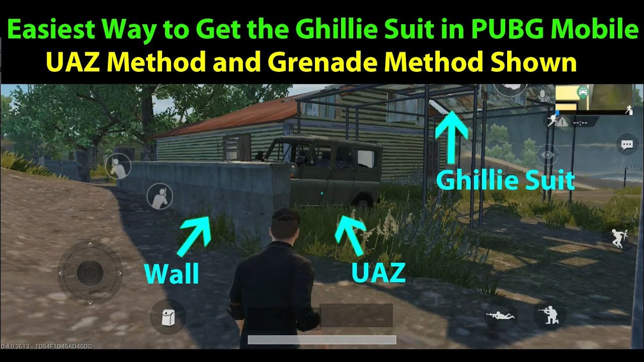 How To Get The Ghillie Suit In PUBG Mobile Training Mode   UAZ And Grenade  Methods Shown!!