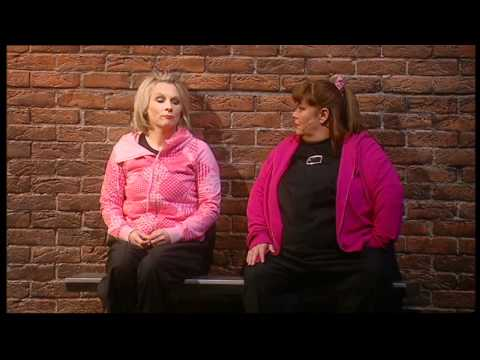 French and Saunders bus stop sketch (still Alive tour)
