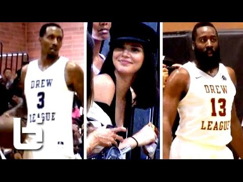 Brandon Jennings , Nick Young & James Harden Show out at Drew League (Kylie Jenner) was in attendance