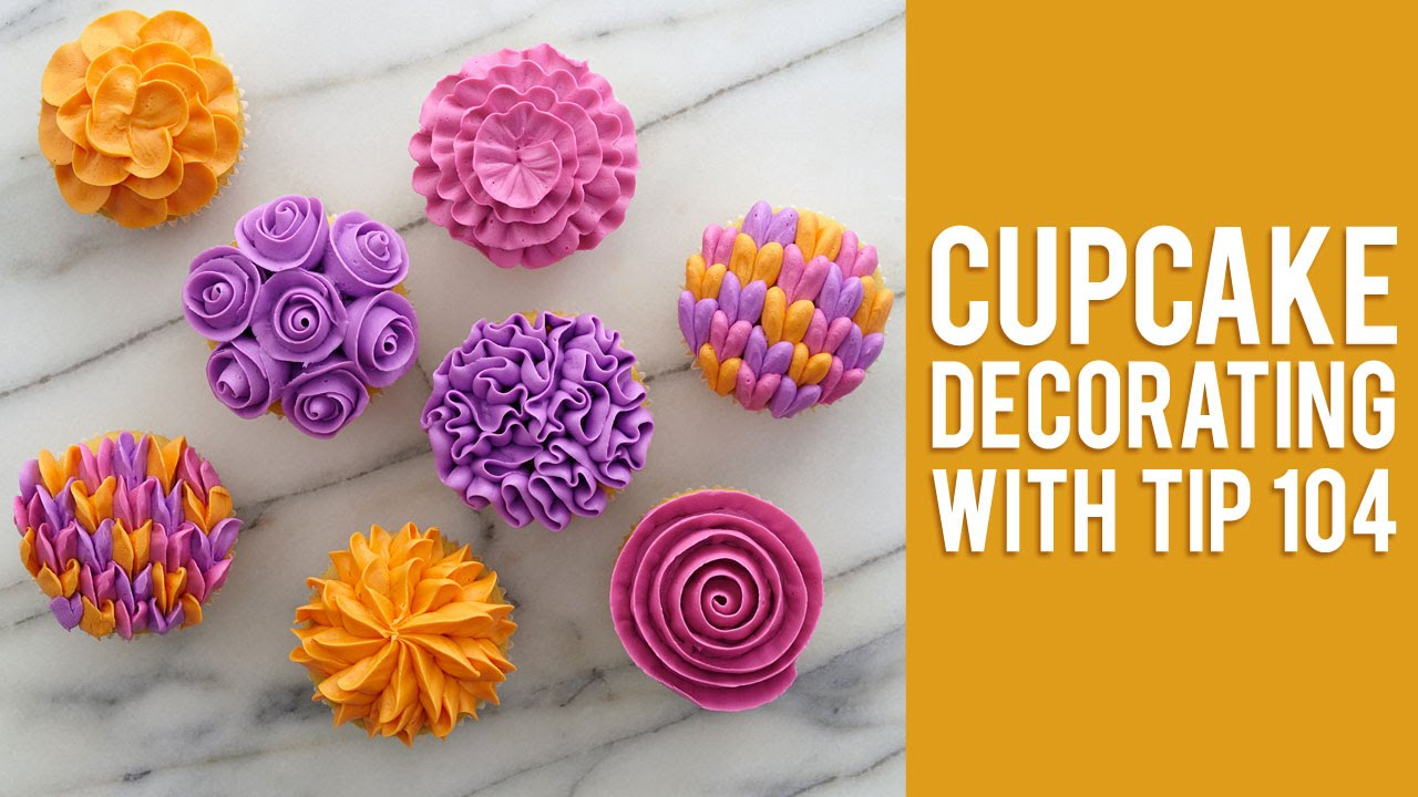 How to Decorate Buttercream Flower Cupcakes - YouTube