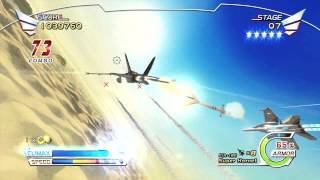 Afterburner Climax - Xbox 360 Playthrough as Super Hornet w/unlimited Missiles