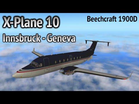 Innsbruck - Geneva in a Beechcraft 1900D (X-Plane 10)