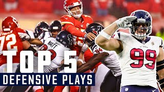 Interceptions, Sacks and MORE | Houston Texans Top 5 Defensive Plays