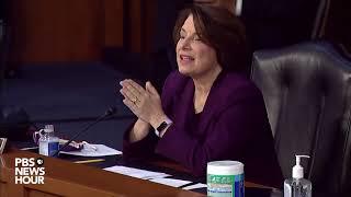WATCH: Sen. Amy Klobuchar questions Supreme Court nominee Amy Coney Barrett