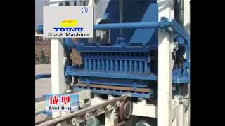 QT4-20 semiautomatic concrete solid block machine line