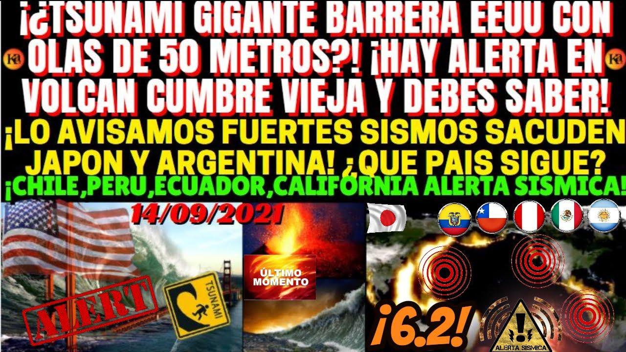 ¡MUY URGENTE AVISAN DE UN TSUNAMI GIGANTE EN EEUU! ¡FUERTES SISMOS SACUDEN JAPON,ARGENTINA Y CHILE!