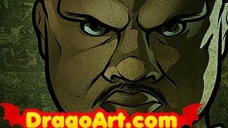 How to Draw T-Dog, T-Dog From The Walking Dead, IronE Singleton, Step by Step