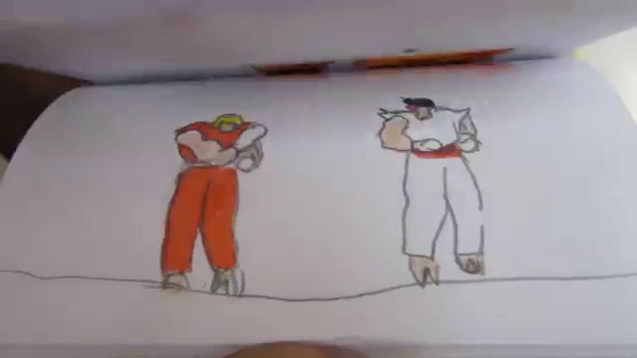 Street Fighter Flipbook Animation Ryu Vs Ken Youtube