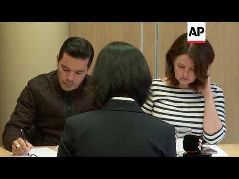 Wife of missing Interpol chief - Mandarin statement