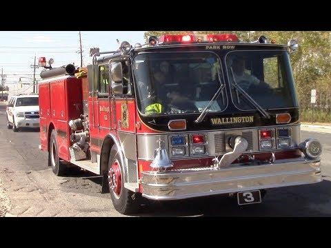 Wallington Fire Department Ex Engine 203 1985 Hahn Responding 10-3-17