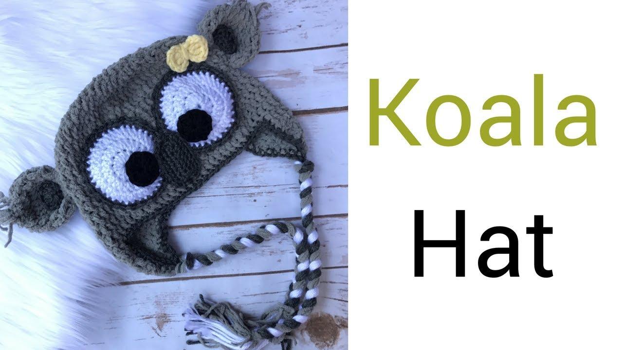 Crochet Baby Hat Koala Hat Pattern Youtube