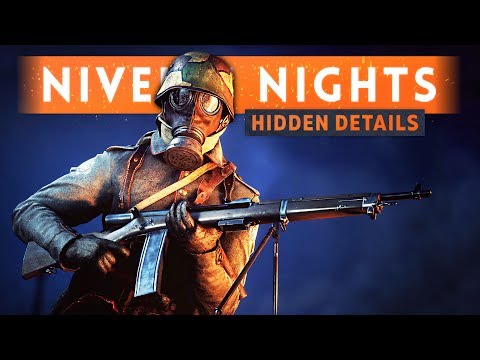 ► NIVELLE NIGHTS HIDDEN DETAILS! - Battlefield 1 (Night Map Overview)