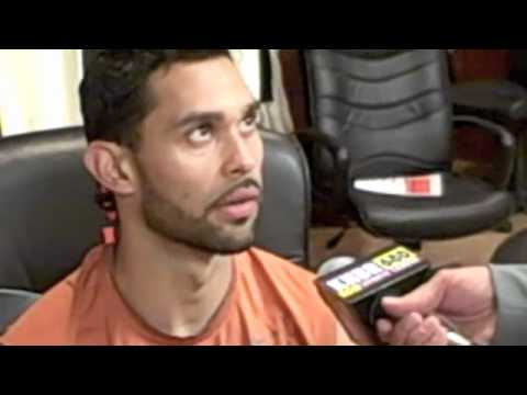 Ray Woodson with Giants Centerfielder Angel Pagan
